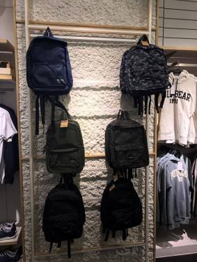 mixing camo and backpacks in PULL & BEAR