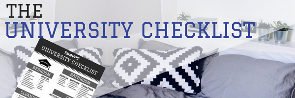 The UNIVERSITY CHECKLIST (college packing list)