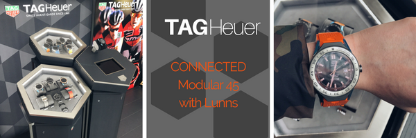 Checking out the TAG Heuer Modular 45 at the Lunns Pop-upBelfast
